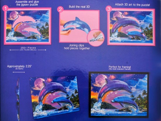 Three-dimensional spatial puzzle dolphins ZA1352