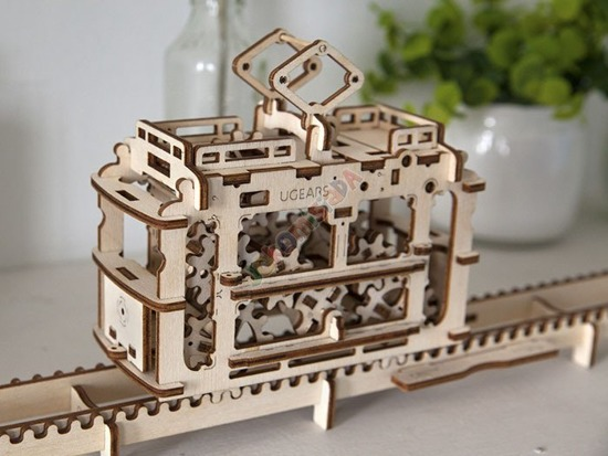 Tram GEARS 3D puzzle wooden ZA1454