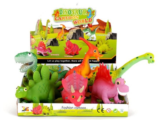 Very soft rubber squeaky dinosaur toy ZA0902