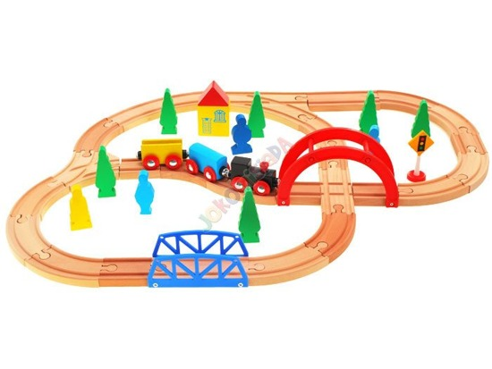 Wooden train tracks TROLLEY ZA1799