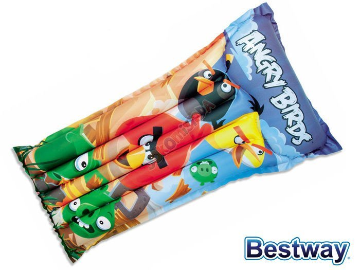 Bestway dmuchany Materac Angry Birds 119cm 96104