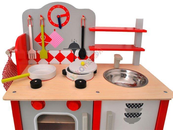 Duża drewniana kuchnia dla dzieci + garnki ZA1411  Zabawki dla dzieci  agd   -> Kuchnia Drewniana Dla Dzieci Zabawki