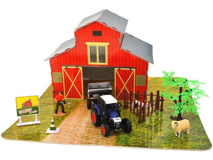 Farma Dla Rolnika Traktor Krowa Zagroda Za1069 Zabawki