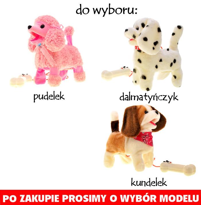 Interaktywny pies na smyczy dla dziecka