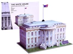 3D puzzle white house of the famous buildings ZA2529
