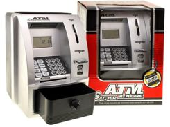 ATM silver piggy bank to save ZA0824
