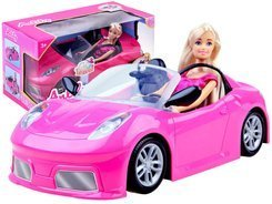Anlily Doll in a pink convertible car for doll ZA2461