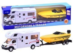 Auto Kamper camping + tow truck and motorboat ZA2554