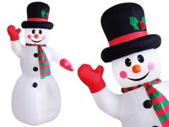 BIG puffed Winter Snowman 240 cm DS0011