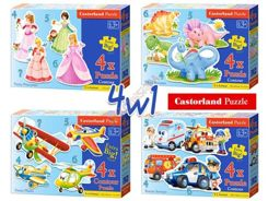 Castorland Puzzles 4in1 puzzle to 3 years old 4,5,6,7  pcs. CA0012