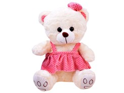 Charming teddy bear girl in a dress ZA2483