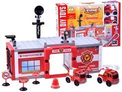 Constructional blocks Fire brigade Police 59 ele. ZA2443