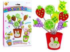 Creative set of vase flowers fruits ZA0583
