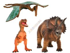 DINOSAUR FIGURINE SET OF 3 PCS. HAND MAL ZA0796