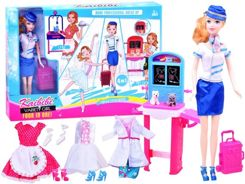 Doll + clothes 4 professions doctor chef stewardessa ballet ZA2393