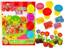 Educational Dough garden flowers + molds ZA1473