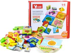 Educational puzzle ENGLISH fruit vegetables GR0277