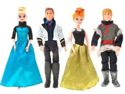 Frozen Set of 4 dolls Elsa Anna ZA1630