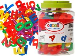 MAGNETIC letters Numbers COLORFUL ALPHABET 80elem. TA0033