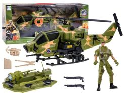 Military helicopter + pontoon soldier ZA0122