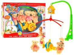 Musical Carousel with plush teddy bears ZA1131