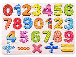 Numbers to learn counting wooden puzzle ZA2527