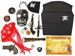 Pirate treasure chest with pirate accessories for ZA0839