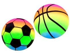 Rainbow rubber light balls set ZA2673