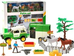 Set with horse farm farm Rancho ZA1672