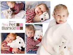 Soft brown monkey My Pet Blanket Blankie ZA0724 BR