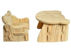 Soft furniture for children, high chair + table ZA2783