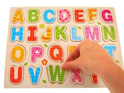 The letters ALPHABET wooden puzzle TA0056