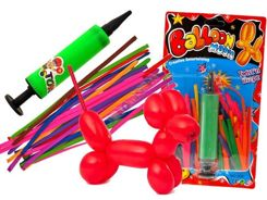 The new, colorful LONG BALLOONS + PUMP ZA0932