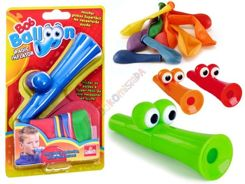 Trumpet for blowing balloons + balloons ZA2269