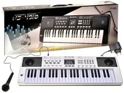 White Organ Keyboard HS-4918B microphone IN0074