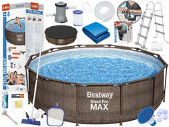 Bestway Swimming pool FRAME Rattan 366 x 100cm 56709