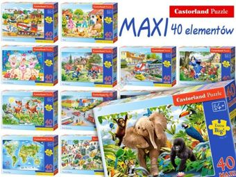 Castorland Puzzle 40 items MAXI large selection CA0015