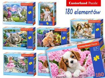 Castorland colorful puzzle of 180 parts CA0008