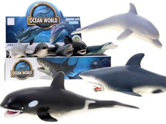 Rubber marine animals dolphin shark  ZA1468