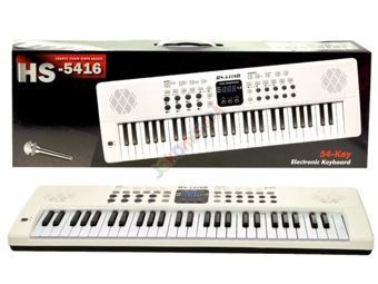 White Organ Keyboard USB microphone HS5416B IN0044
