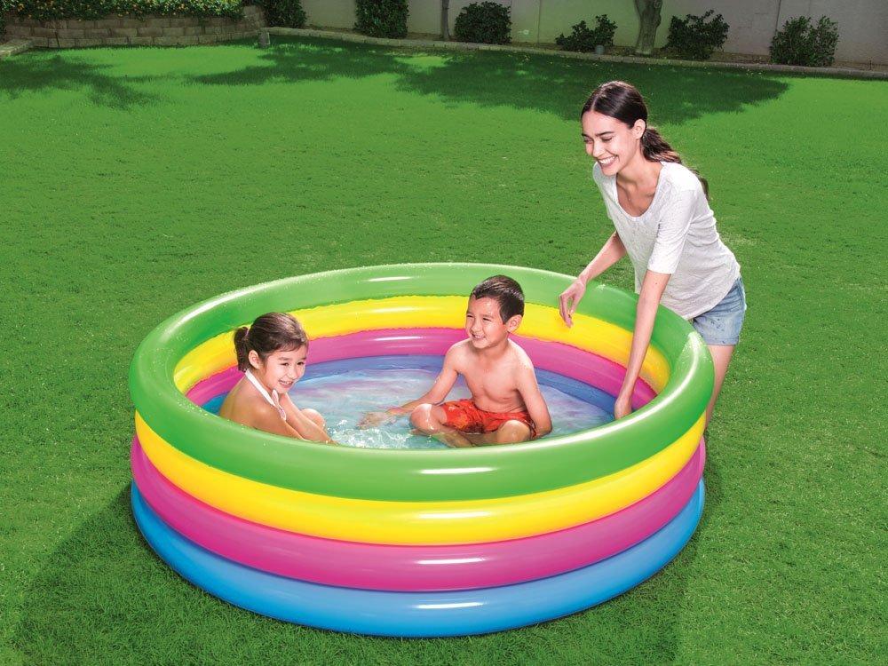 Bestway Rainbow Inflatable Paddling Pool 157 X 46cm 51117