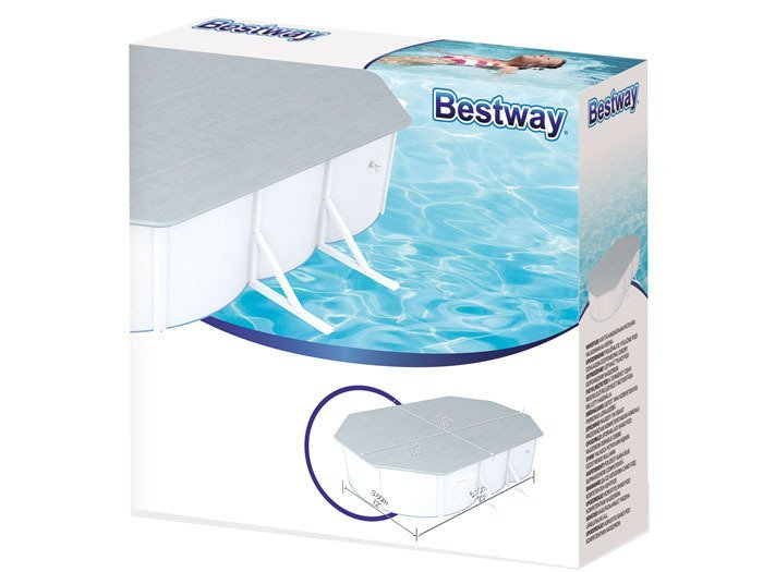 bestway pool cover 610x360x120cm 58364 swimming pools pool accessories stary opis. Black Bedroom Furniture Sets. Home Design Ideas
