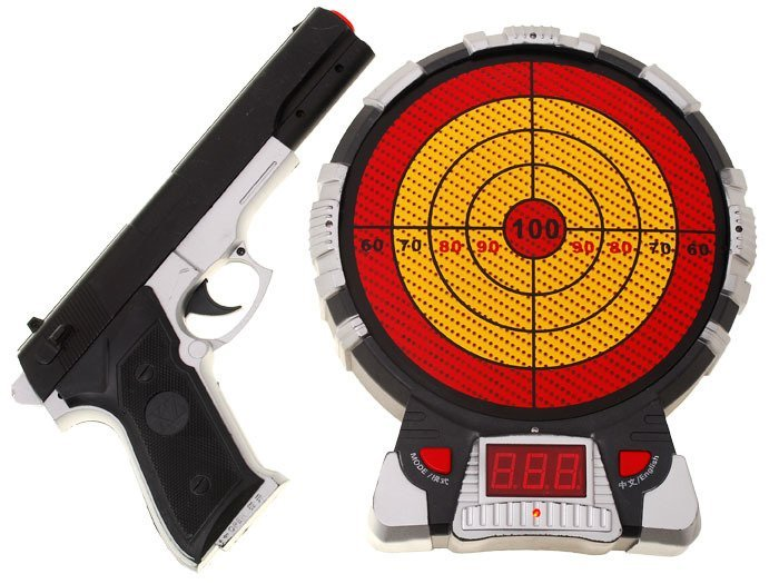 Game Toys To Practice : Electronic target practice gun za toys