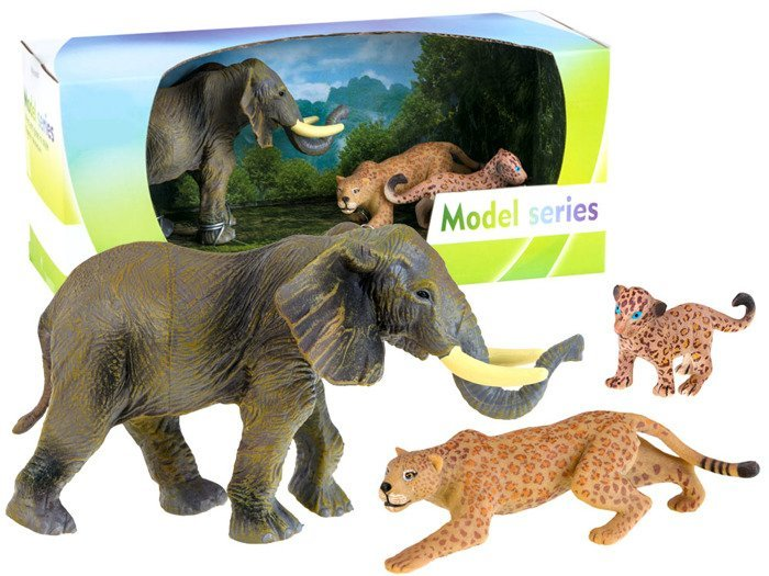 Safari Toys For Boys : Figures animals of safari elephant leopard za toys