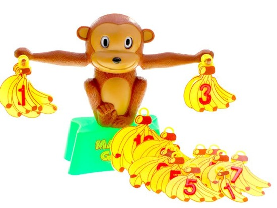 Educational math game MONKEY WEIGHT GR0023