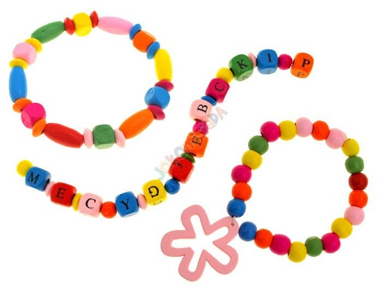 Colorful wooden beads of different shapes ZA1228