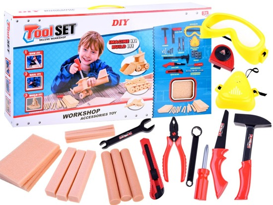 DIY set TOOLS wooden boards ZA2924