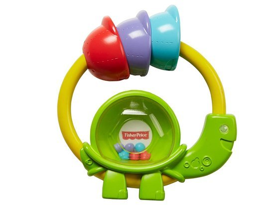 Fisher Price Green rattle Tortoise ZA3620