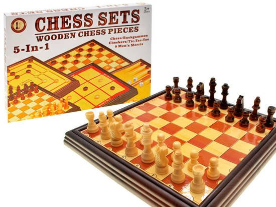 Game CHESS set of 6 games Checkers Backgammon GR0257
