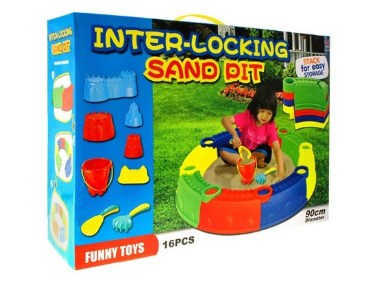 Round sandbox with sand molds SP0213